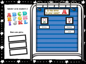 Is This Letter In Your Name? Polka Dot Set Pocket Chart Game