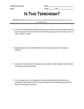 Is This Terrorism? Activity