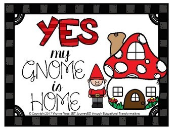Is Your Gnome Home? A Rhyming and Graphing Station