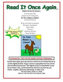 Is Your Mama a Llama Level 2 Digital Version