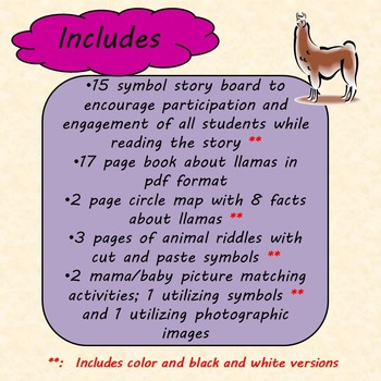 Is Your Mama a Llama Unit for Special Education