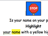 Is Your Name on Your Paper?