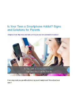 Is Your Teen a Smartphone Addict?