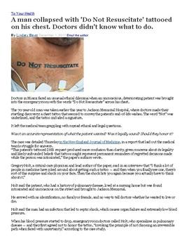 Is a DNR tatoo a legal document?