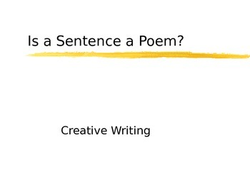 Is a sentence is a poem?