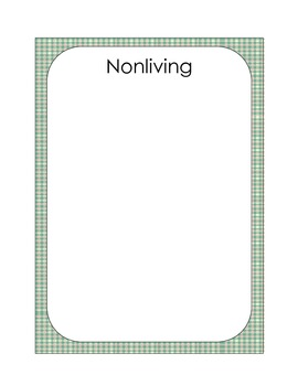 Is it Alive? File Folder Game - Sorting Living and Nonliving Things