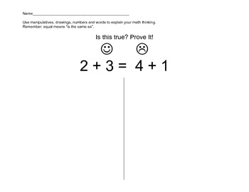 Is it Equal? Prove it! Common Core Math
