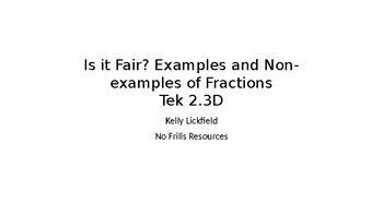 Is it Fair? Examples and Non-examples of Fractions