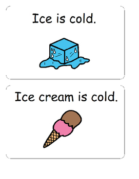 Is it Hot or Cold? Interactive Book and manipulatives