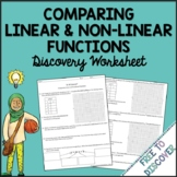 Comparing Linear and Nonlinear Functions Discovery Worksheet