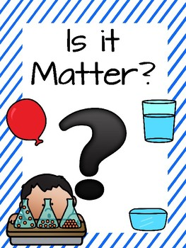 Is it Matter? Card Sort Activity
