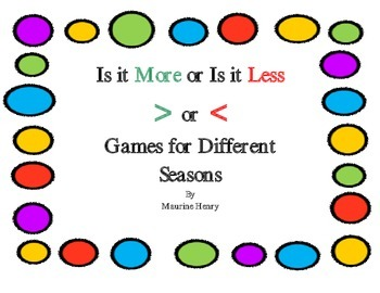 Is it More or Is it Less?  Games for Different Seasons