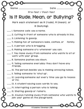 Is it Rude, Mean, or Bullying?