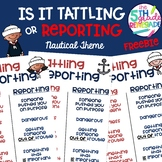 Is it Tattling or Reporting Nautical Theme Freebie
