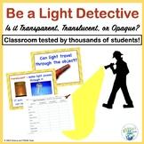 Light Energy Investigation Transparent Translucent or Opaque