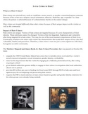 Is it a Crime to Hate? (Hate Crime Discussion Handout)