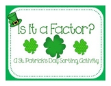 Is it a Factor?  (factor sorting activity)