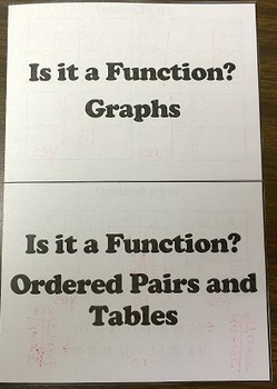 Is it a Function? Foldable Notes