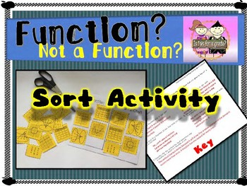 Is it a Function/Not a Function? Sort and Group Activity