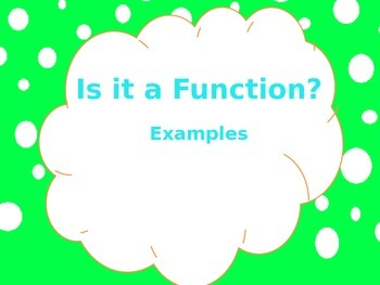 Is it a Function Powerpoint