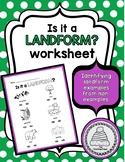 Is it a Landform? Worksheet