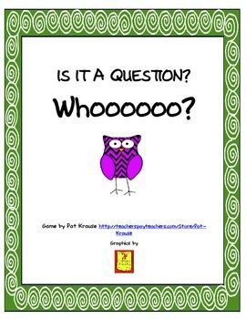 Is it a Question? By Pat Krause