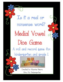 Is it a Real or Nonsense Word? A Medial Vowel Game