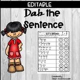 Is it a Sentence? Dab the Sentence *** Editable***