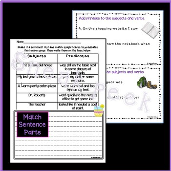 Is it a Sentence? Task Cards & Practice for Interactive Notebooks