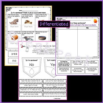 Complete the Sentences: Task Cards & Practice for Interactive Notebooks