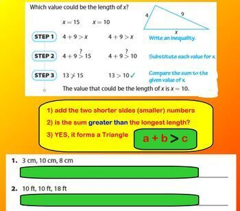 Is it a Triangle? BUNDLE Worksheet Smartboard Dice Game Activity