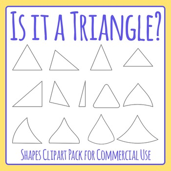 Is it a Triangle?  Geometry / Shapes Identification Clip Art Set Commercial Use
