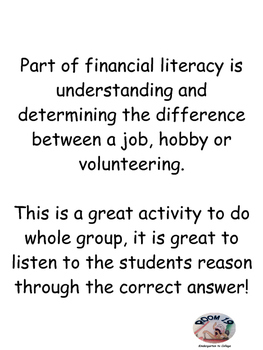 Financial Literacy! Is it a job, hobby or volunteering?