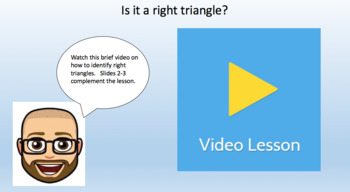 Is it a right triangle? - Task Cards & Interactive Video Lesson!