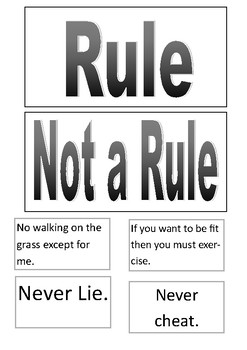 Is it a rule? A thinking and ethical reasoning activity for year 3 & 4 students.
