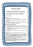 Is it a rule? A thinking and ethical reasoning activity fo