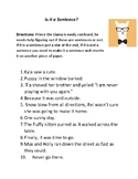 Is it a sentence? Quick complete sentence review activity or quiz