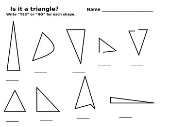 Is it a triangle? Worksheet
