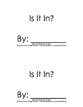 Harcourt Storytown K, lesson 12, Is it book-hfw is, it, in