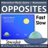 Tempo Fast Slow ~ Music Opposite Interactive Music Game + Assessment {spaceship}