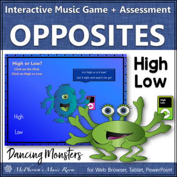 Music Opposite High Low Interactive Music Game (monsters)