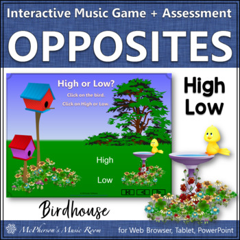 High or Low? Interactive Music Game and Assessment {bird}