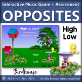 Spring Music Game: High Low Interactive Music Game and Assessment {birdhouse}