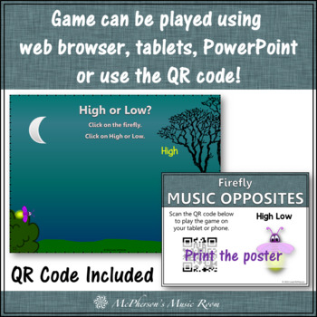 Music Opposite High or Low Interactive Music Game (firefly)