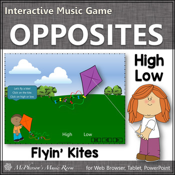 High or Low? Interactive Music Game {kites}