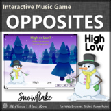 Winter Music Opposite High and Low Interactive Music Game