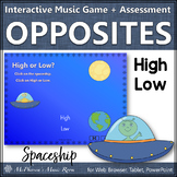 High Low Music Opposite Interactive Music Game + Assessment {spaceship}