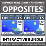 High Low? Fast Slow? Interactive Music Games + Assessments {BUNDLE} spaceship