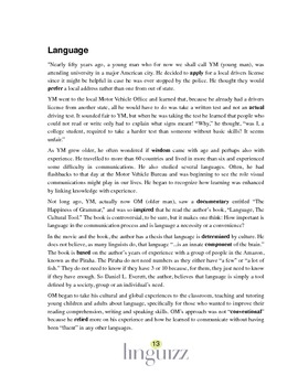 Is language a necessity or a convenience? - Reading Comprehension 1