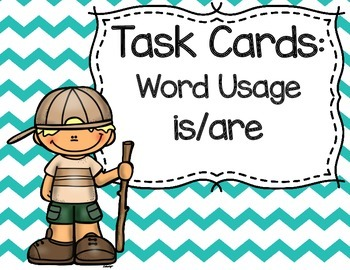 Is or Are Word Usage Task Cards FREEBIE